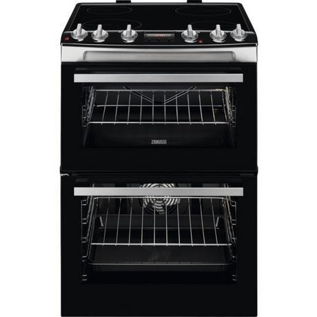 Image of ZCV66078XA 60cm Electric Double Oven with Ceramic Hob