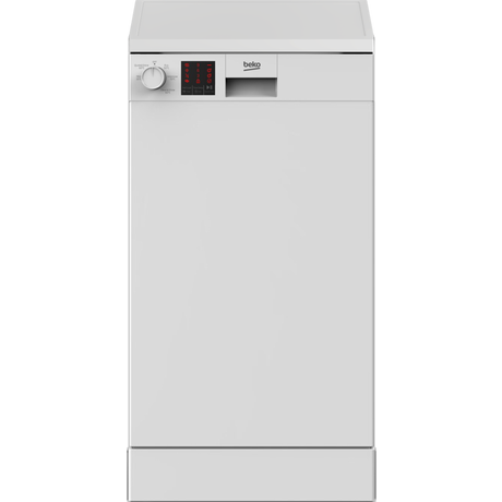 Image of DVS05C20W A++ Slimline Freestanding Dishwasher - White