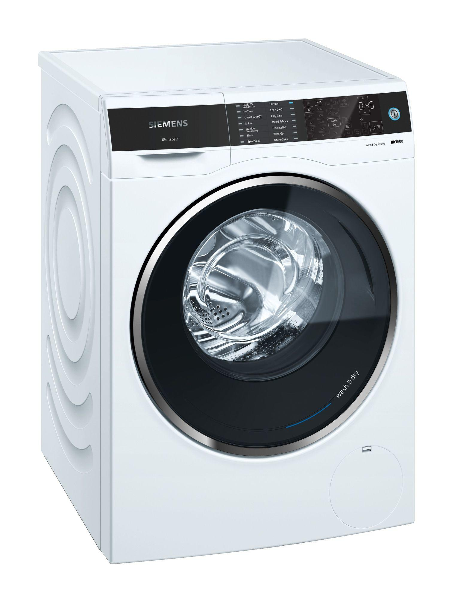 Image of iQ500 WD14U521GB 10Kg Wash 6Kg Dry 1400 Spin B Rated Washer Dryer | White