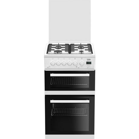 Image of EDG506W 50cm Twin Cavity Gas Cooker with Glass Lid