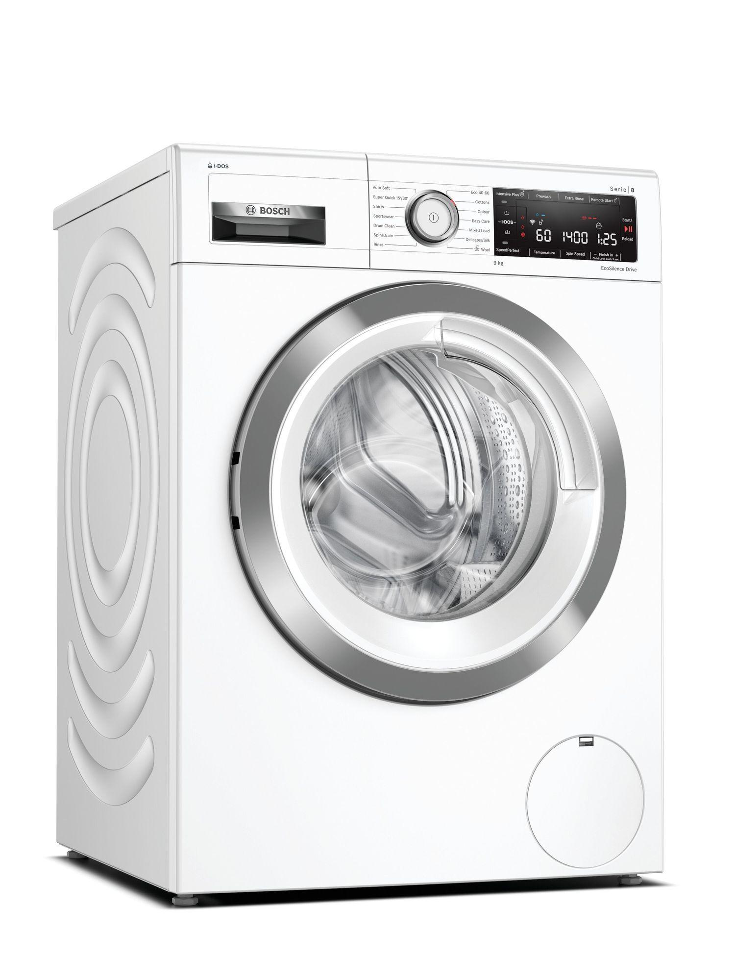 Image of Serie 8 WAV28KH3GB 9Kg 1400 Spin i-DOS Washing Machine | White