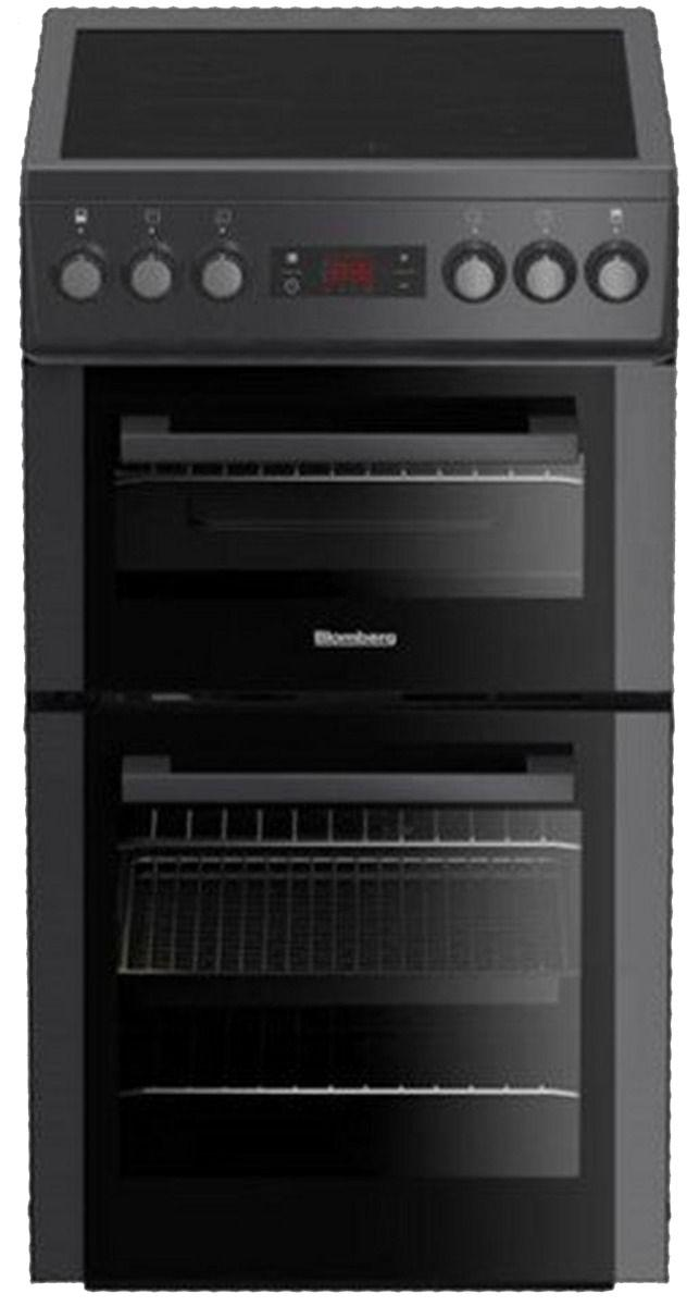 Image of HKS900N 50cm Double Oven Electric Cooker with Ceramic Hob - Anthracite