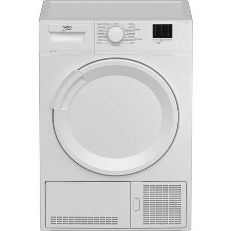 Image of DTLCE80041W 8kg Condenser Tumble Dryer | White