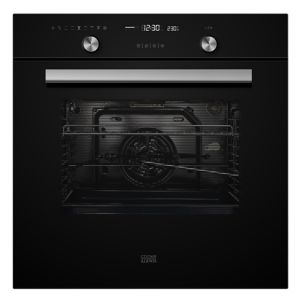 Image of Cooke & Lewis CLMFBLa Black Built-in Electric Single Multifunction Oven