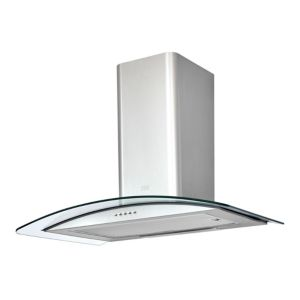 Image of Cooke & Lewis CLCGS70 Inox Stainless steel Curved Cooker hood (W)70cm
