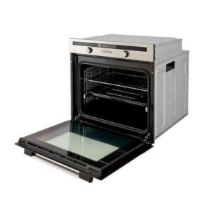 Image of Cooke & Lewis CLMFST Grey Electric Multifunction single oven
