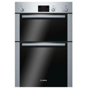 Image of Bosch HBM13B252B Brushed steel Electric Double oven