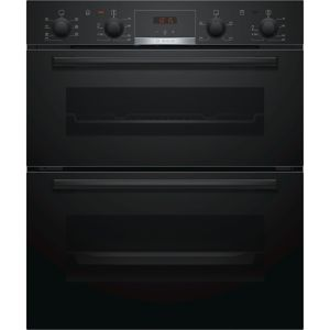 Image of Bosch NBS533BB0B Black Electric Double Multifunction Oven