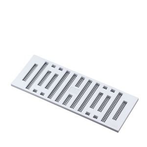 Image of Manrose White Chrome effect Rectangular Adjustable vent & Fly screen (H)76mm (W)229mm