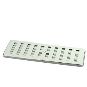 Image of Manrose Chrome effect Rectangular Adjustable vent & Fly screen (H)76mm (W)229mm