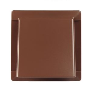 Image of Manrose Brown Square Hooded air vent (H)110mm (W)110mm