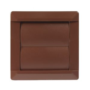 Image of Manrose Brown Square Air vent & gravity flap (H)110mm (W)110mm