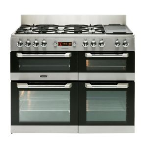 Image of LEISURE Cuisinemaster CS110F722X Dual Fuel Range Cooker - Stainless Steel, Stainless Steel