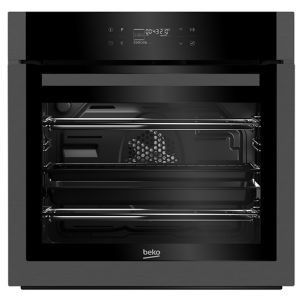Image of Beko BQM29500DXP Black Built-in Electric Single Multifunction Oven