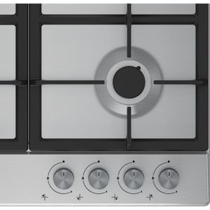 Image of Beko HQAW 64225 SB 4 Burner Black Stainless steel Gas Hob (W)670mm