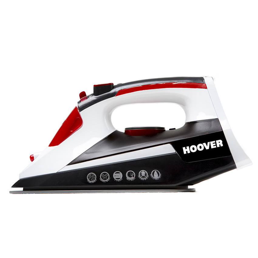 Image of 2500Watts Steam Iron Turbo Steam Red/White/Black