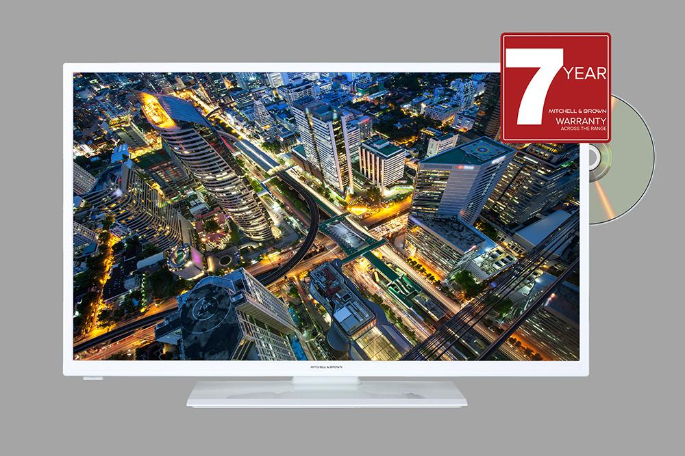Image of JB-321811FDVDWHT 32 inch HD Ready TV with DVD Player - White