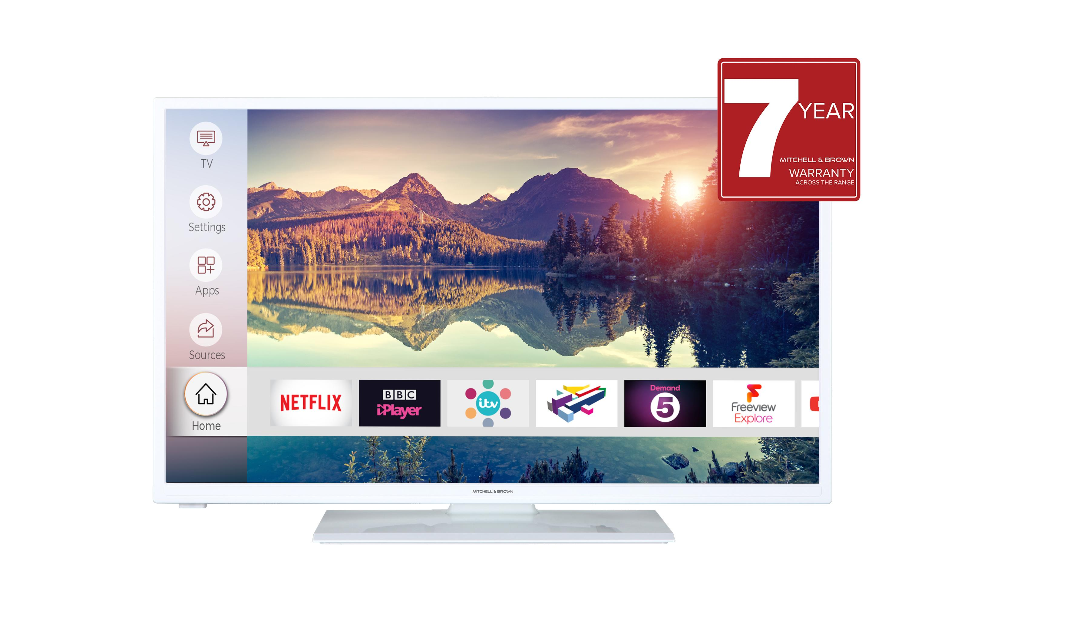 Image of JB-241811FSMWHT 24 inch HD Ready Smart TV - White