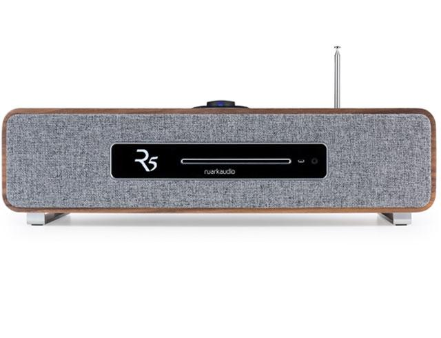 Image of R5 High Fidelity Music System CD, DAB, Bluetooth | Rich Walnut Veneer