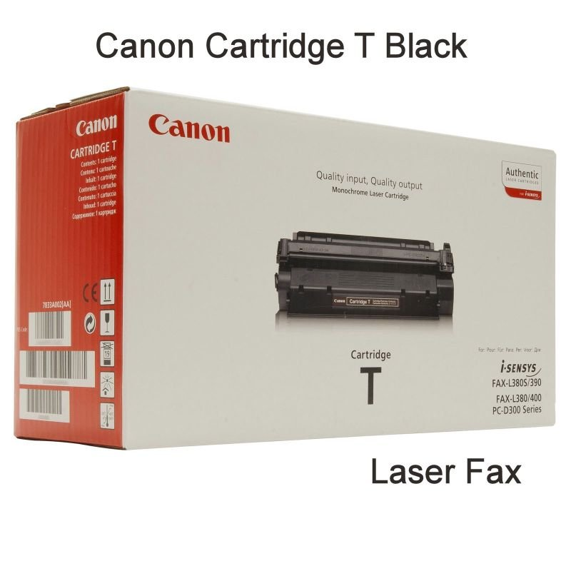 Image of Canon T (7833A002AA) Original Cartridge Black Fax Laser Toner Cartridge