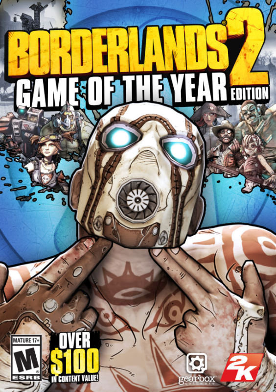 Image of Borderlands 2 - Game Of The Year Edition - Age Rating:18 (pc Game)