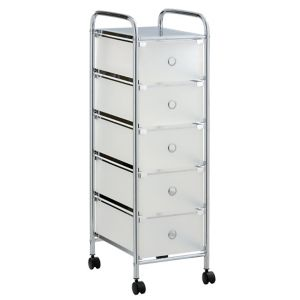 Image of Cooke & Lewis White Plastic & steel Storage trolley