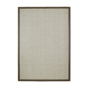 Image of Colours Frydah Flatweave with cotton border Grey Rug (L)1.7m (W)1.2m