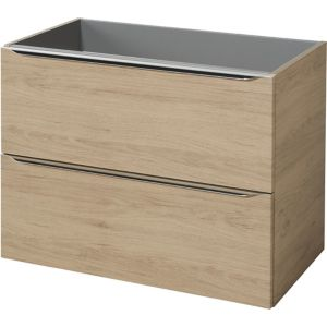Image of GoodHome Imandra Oak effect Wall-mounted Vanity & basin Cabinet (W)800mm (H)600mm