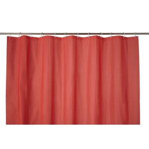 Image of Cooke & Lewis Palmi Red Shower Curtain (L)1800 mm