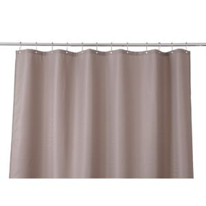 Image of Cooke & Lewis Cecina Greige Waffle Shower Curtain (L)1800 mm