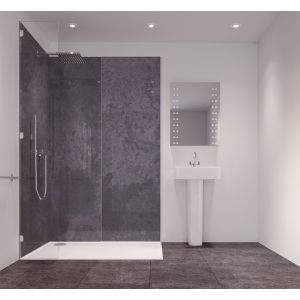 Image of Splashwall Graphite Diffusion Single Shower Panel (L)2420mm (W)585mm (T)11mm