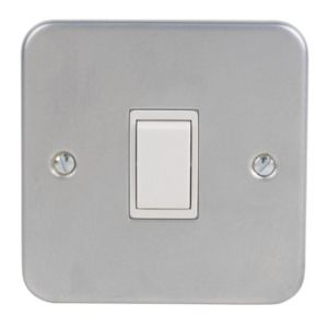 Image of 10A 2 way Grey Single Switch