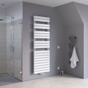 Image of Ximax Vertical Towel radiator White (W)500mm (H)970mm