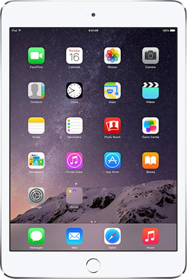 "Image of Apple iPad Mini 3 7.9"" (2014) (16GB Silver) at £319.00 on No contract."