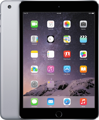"Image of Apple iPad Mini 3 7.9"" (2014) (16GB Space Grey) at £319.00 on No contract."