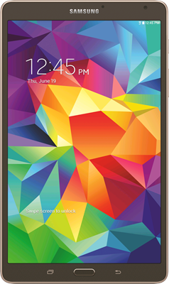 Image of Samsung Galaxy Tab S 8.4 WiFi Only (16GB Bronze) at £319.00 on No contract.