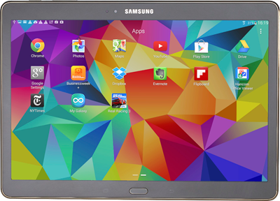 Image of Samsung Galaxy Tab S 10.5 WiFi Only (16GB Bronze) at £399.00 on No contract.