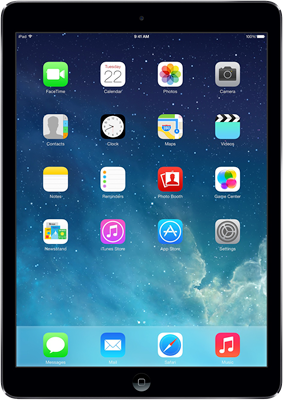 "Image of Apple iPad Air 2 9.7"" (2014) WiFi Only (16GB Space Grey) at £399.00 on No contract."