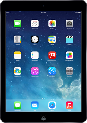 "Image of Apple iPad Air 9.7"" (2013) WiFi Only (32GB Space Grey) at £449.00 on No contract."