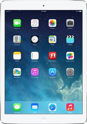 "Image of Apple iPad Air 9.7"" (2013) WiFi Only (64GB Silver) at £549.00 on No contract."